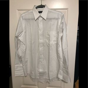 Christian Dior designer dress white shirt 151/2 33
